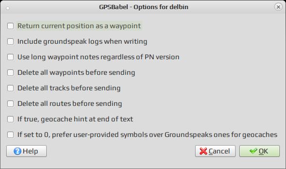 GPSBabel / Конвертирование между форматами геоданных (точек