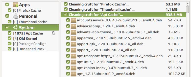 Ubuntu Cleaner / Специализированная утилита для очистки Ubuntu