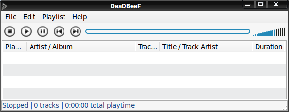 DeaDBeeF - Быстрый аудио-плеер с простым интерфейсом и расширяемый плагинами