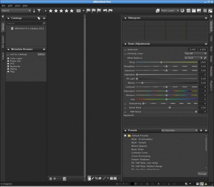 Corel AfterShot Pro - пакет приложений для управления фотографиями (RAW) для Linux