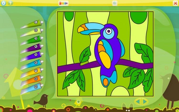 Раскраска для самых маленьких играть онлайн бесплатно
