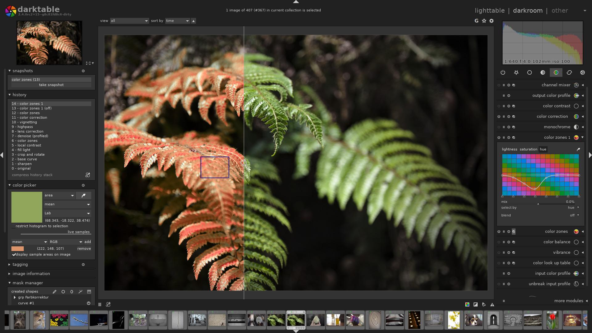 Работа в Darktable - современном инструменте фотографа