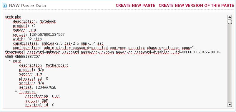 Pastebinit / Консольный клиент для Pastebin com