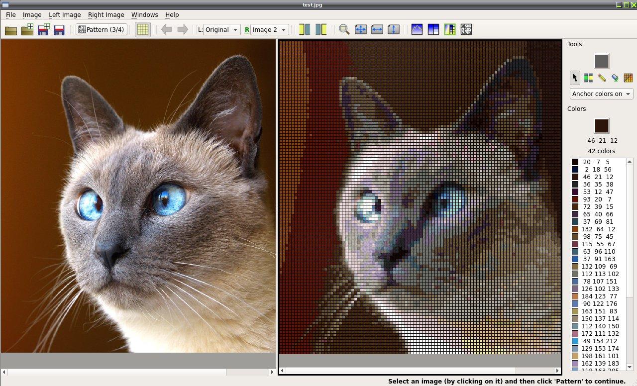 Как фото преобразовать в схему для вышивки