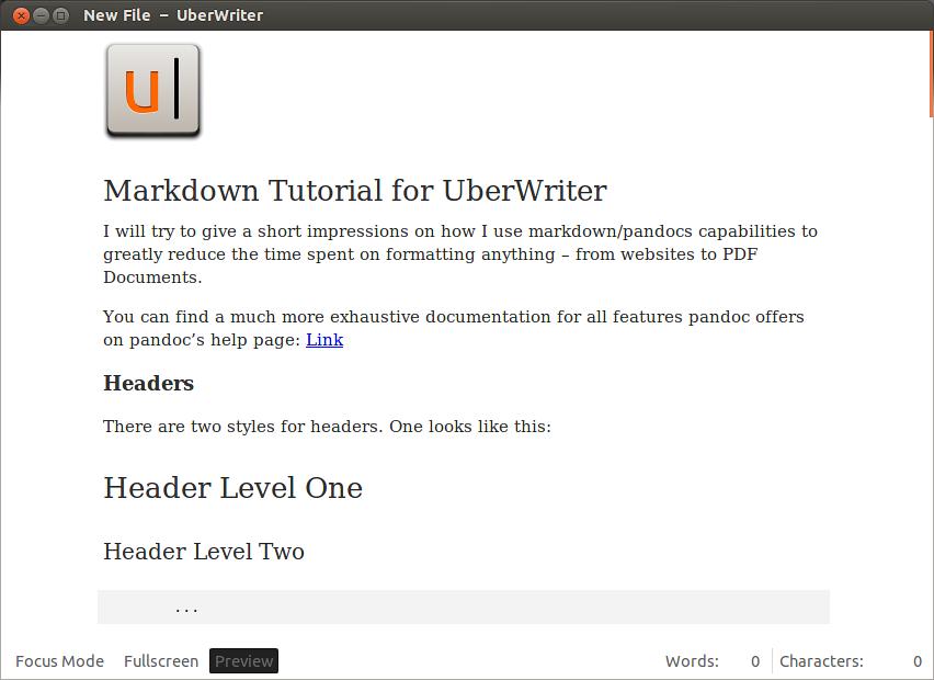 UberWriter / Оригинальный и простой графический Markdown