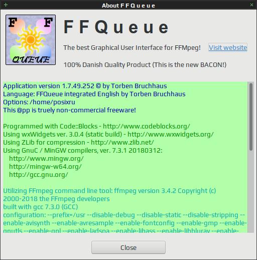 FFQueue / Удобный графический интерфейс для набора консольных утилит