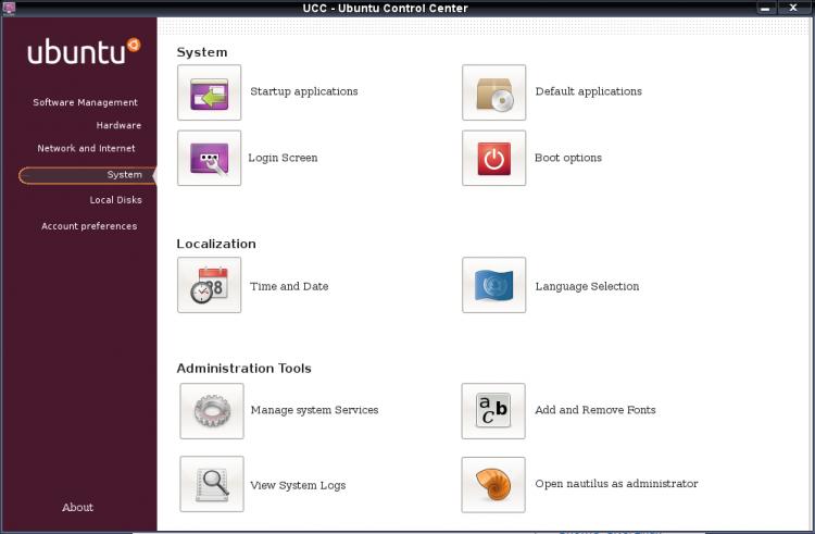 Ubuntu Control Center (UCC)