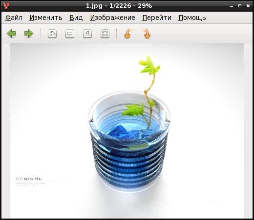 Viewnior - Графический просмотрщик с эргономичным интерфейсом