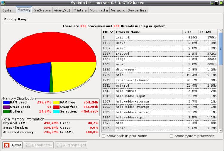 SysInfo for Linux Сбор, обработка и отображение системной и конфигурационной информации