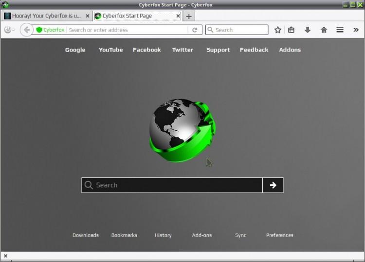 картинка: браузер Cyberfox