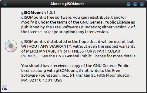 gISOMount работа с образами дисков