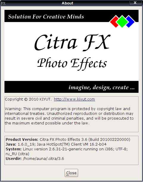 Citra FX Photo Effects - простой фоторедактор