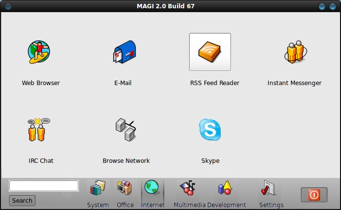 MAGI 2 - панель управления для ubuntu в стиле BeOS