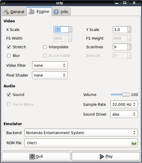 mednafen - эмулятор приставок nes (Денди), GameBoy Advance и многих других