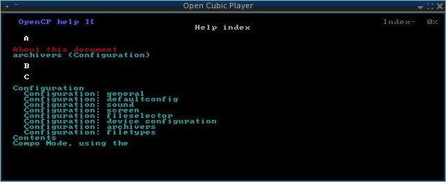 Open Cubic Player - консольный плеер для Линукс