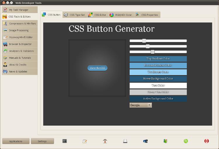 Web Developer Tools - создание CSS-кнопки
