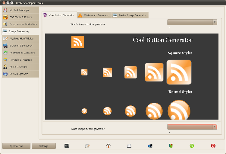 Web Developer Tools - генерируем кнопку