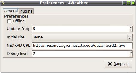 AWeather - Приложение для просмотра метеорологических данных