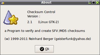 Checksum Control - определить контрольную сумму