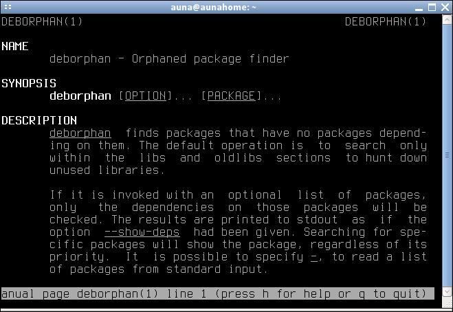 deborphan - Удаление неиспользуемых пакетов