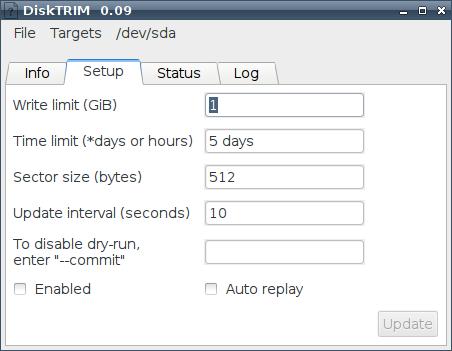 DiskTRIM - программа для Linux для работы с hdd ssd