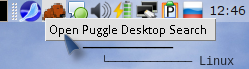 Puggle автоматически индексирует заданные в настройках каталоги