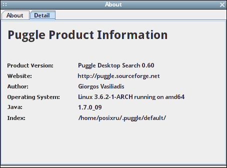 Puggle включая поиск по метаданным и архивов, изображений, MP3