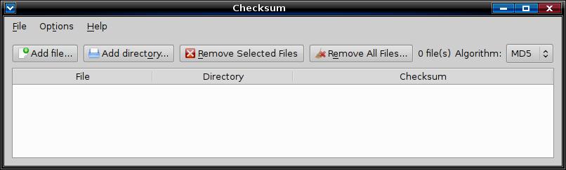 checksum Приложение для вычисления и проверки контрольной суммы  checksum небольшое qt графическое приложение для вычисления хеширования hashing и проверки контрольной суммы файлов checksums