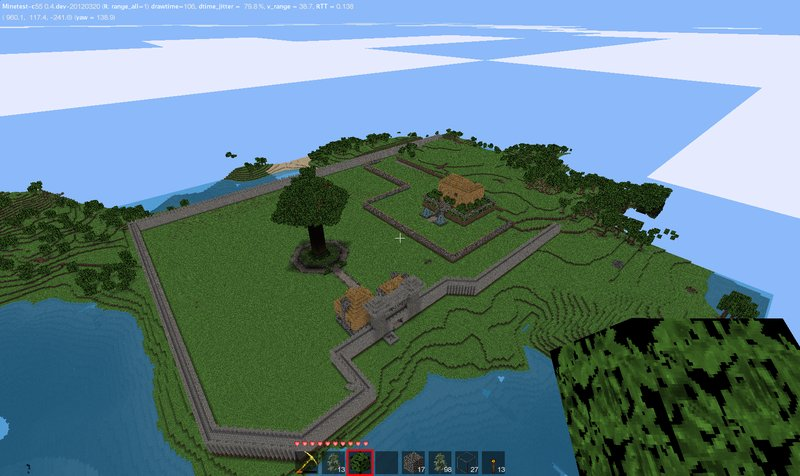 Minetest / Игра жанра песочница, с видом от первого лица для Linux