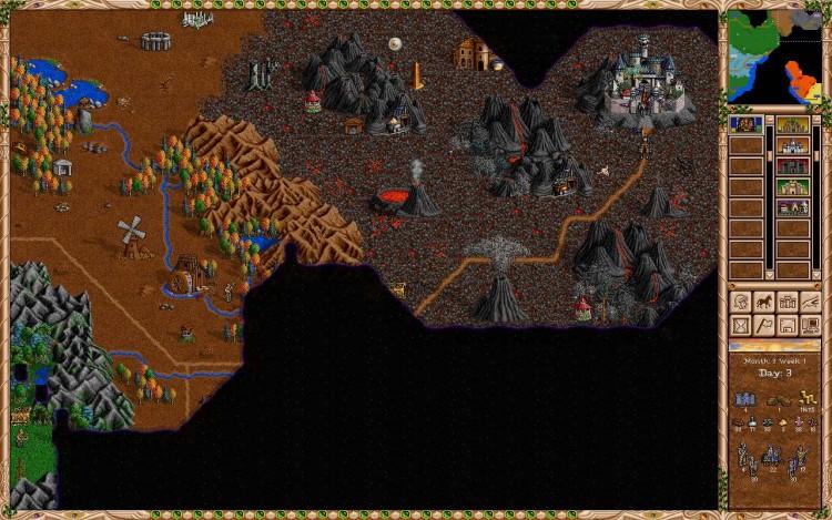 Heroes 2, игра, город никромантов