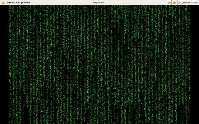 Matrix Rain - скринсервер, хранитель экрана для Linux