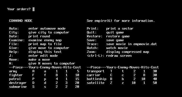 VMS Empire / Консольная пошаговая стратегия, предшественница игр