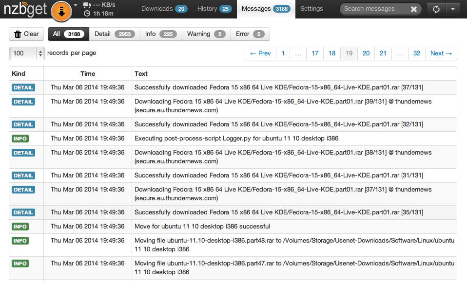 NZBGet / Консольное приложение для упрощения загрузки файлов из сети