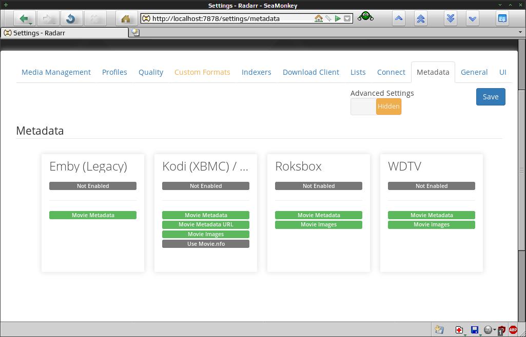 Radarr / Цифровой видеорекордер (PVR) для пользователей Usernet и