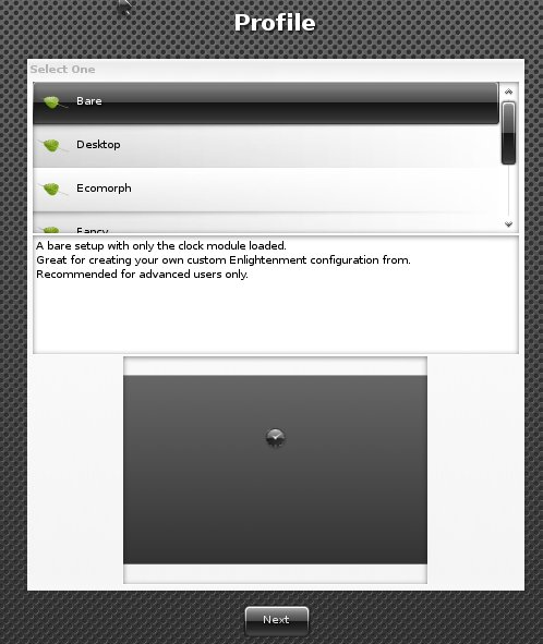 Bodhi Linux использует e17