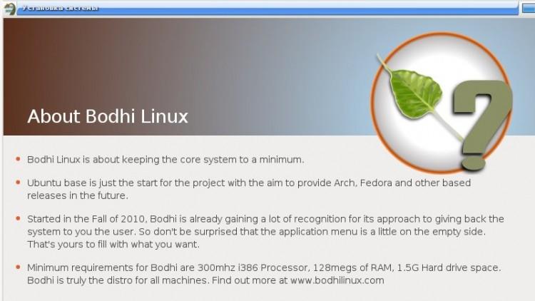 Bodhi Linux на базе Ubuntu 10.04