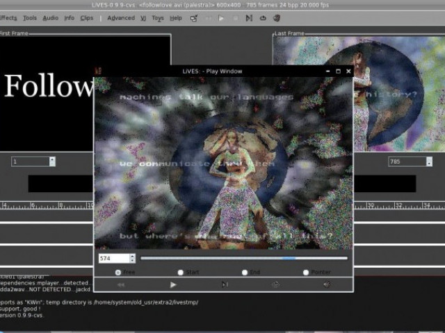 LiVES (Linux Video Editing System)