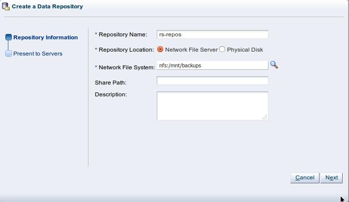 Создание Storage Repository