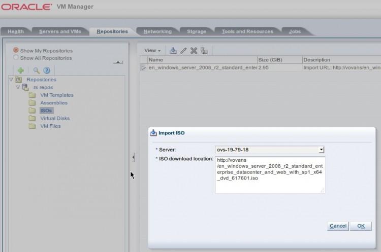 Создание Storage Repository и загрузка первого образа ISO
